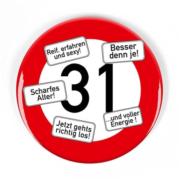 Button zum 31. Geburtstag