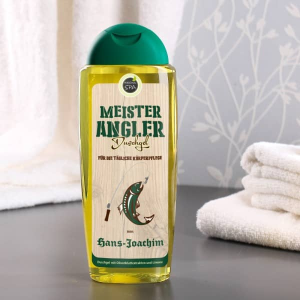 Meister Angler Duschgel mit Name