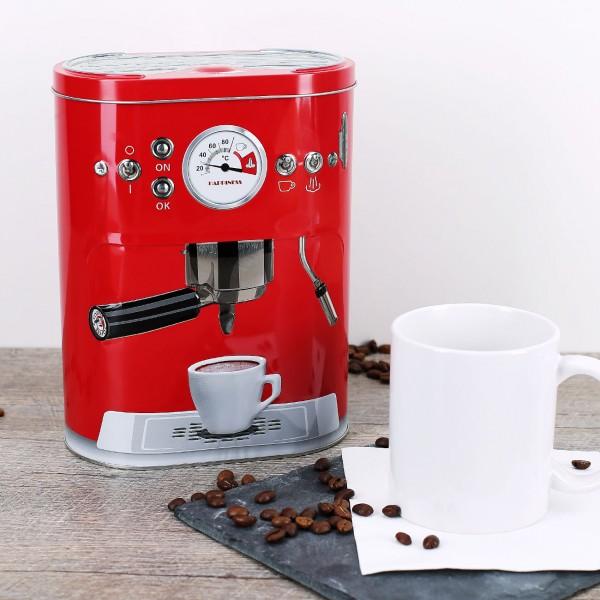 Kaffeedose in Espressomaschinen-Look