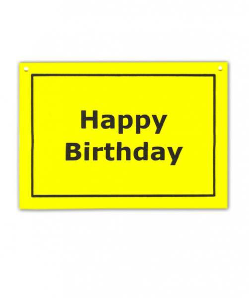 Karte und Schild in einem - Happy Birthday