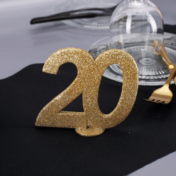 Goldene Dekozahl 20 - zum Geburtstag