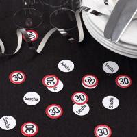 XL Konfetti zum 30. Geburtstag mit Namen personalisiert