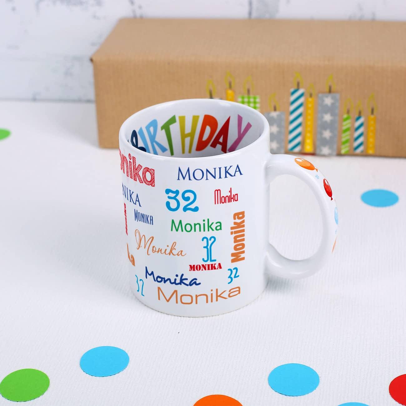 Bedruckte Tassen mit Namen oder Foto als Geschenk