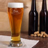 Graviertes Weizenglas - Ein Freund guten Bieres mit Name