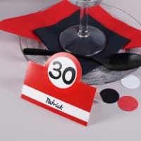 Tisch-Kärtchen für den 30. Geburtstag