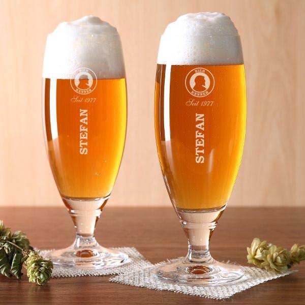 Pilsglas Bier-Kenner mit Gravur