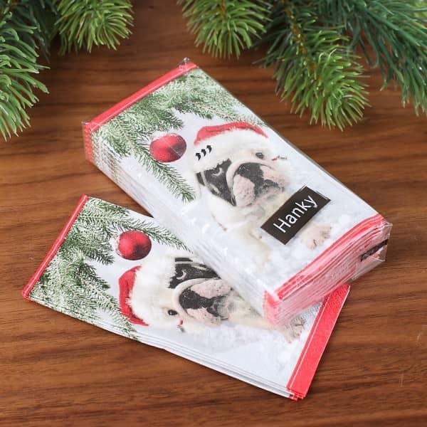 Taschentücher - Santa Dog