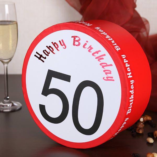 3 Geschenk-Boxen Happy Birthday 50