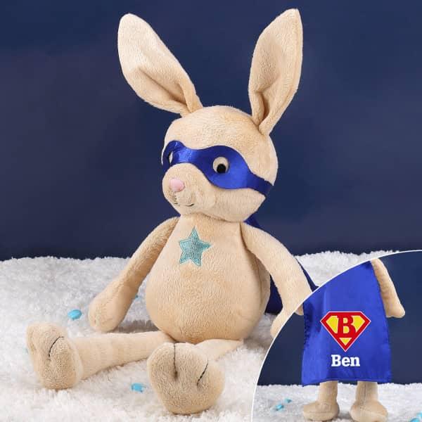 Kuschelhase ''Rocket Rabbit'' mit Ihrem Wunschnamen und Initiale