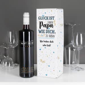 Wein in Flaschenverpackung zum Muttertag