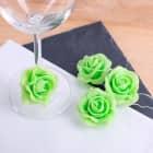 4er-Set Deko-Rosen grün