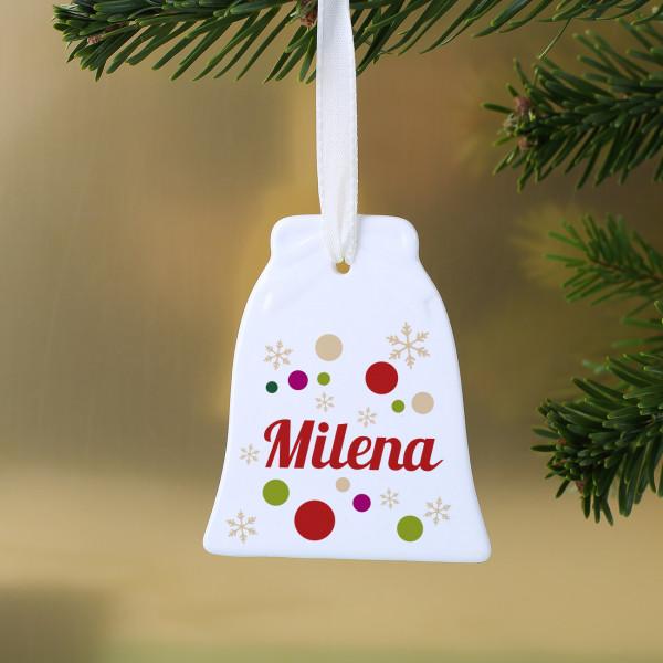 Weihnachtsbaumschmuck aus Keramik mit Namen