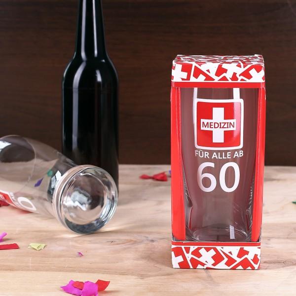 Bierglas - Medizin für alle ab 60