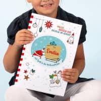 Weihnachts-Malbuch mit Name - 24 Seiten Malen, Basteln, Rätseln DIN A4