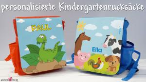 personalisierter Kindergartenrucksack - Was passt hinein?