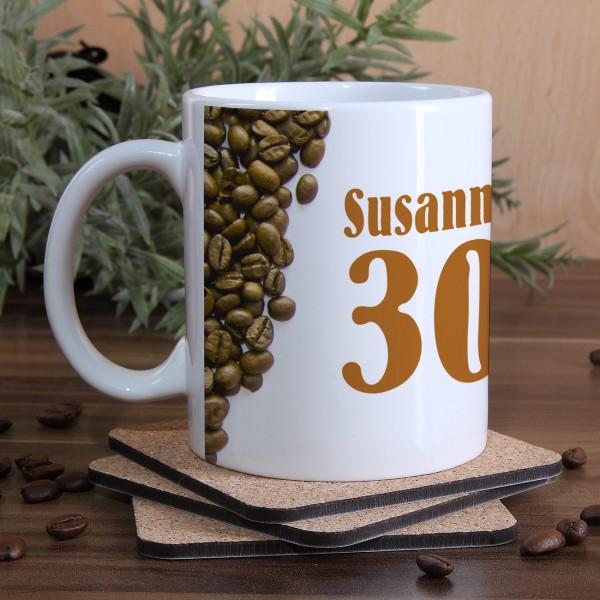 Tasse zum Geburtstag Kaffee