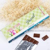 riesige Osterschokolade mit Name und Grußtext