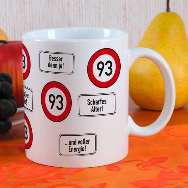 Kaffeetasse zum 93 Geburtstag