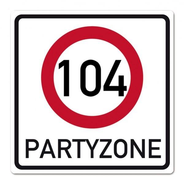 PVC-Banner zum 104. Geburtstag