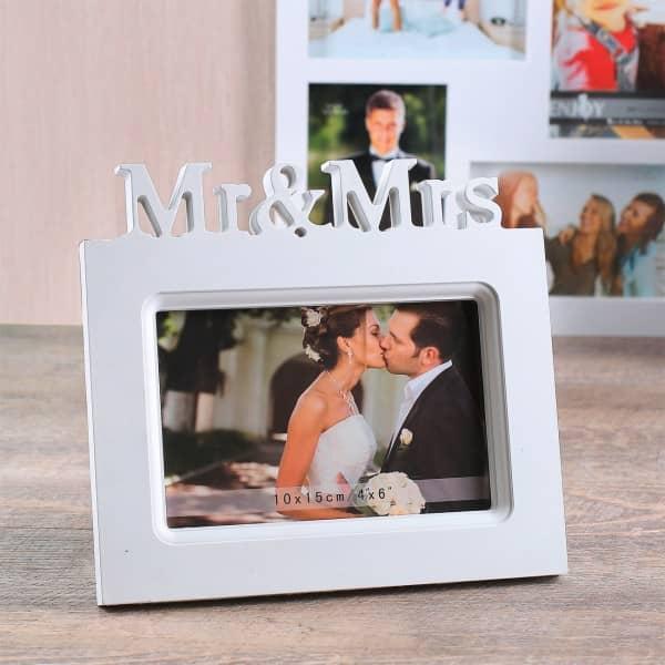 Weißer Kunststoff Bilderrahmen Mr & Mrs