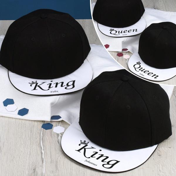 Individuellbekleidung - Basecaps King King oder Queen Queen - Onlineshop Geschenke online.de