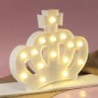 LED Krone in Weiß zum Aufstellen