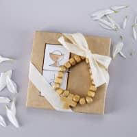 Geschenkset - Holzarmband mit Kreuz und Schokolade in 3 Farben