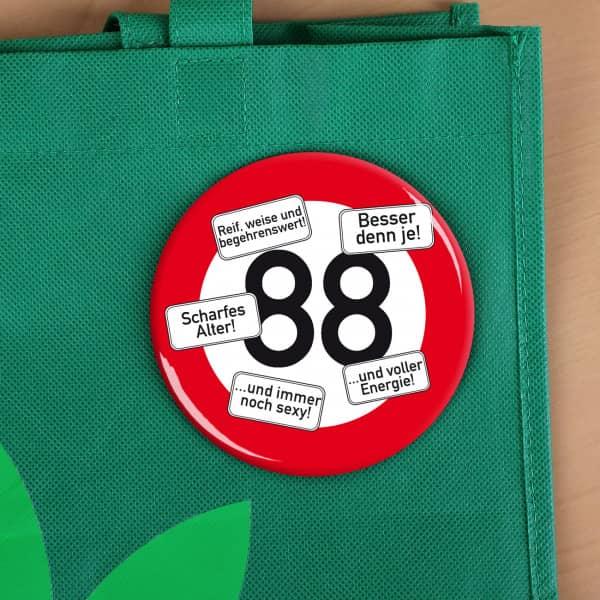 Riesen Button Verkehrsschild 88