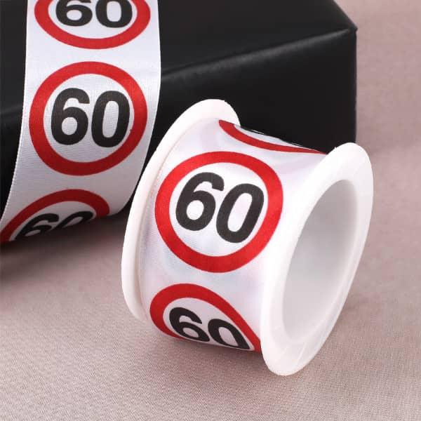 """Geschenkband """"Happy Birthday"""" 60"""