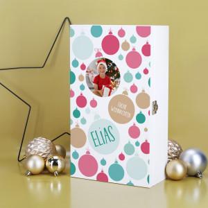 Holzbox Weihnachten mit Foto und Text