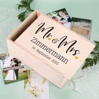 Persönliche Erinnerungsbox zur Hochzeit - Mr und Mrs
