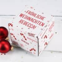 Bedruckte Geschenkbox für kleine Weihnachtsgeschenke