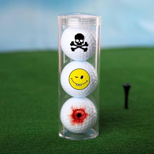 3er Golfball-Set mit verschiedenen Motiven *fun*