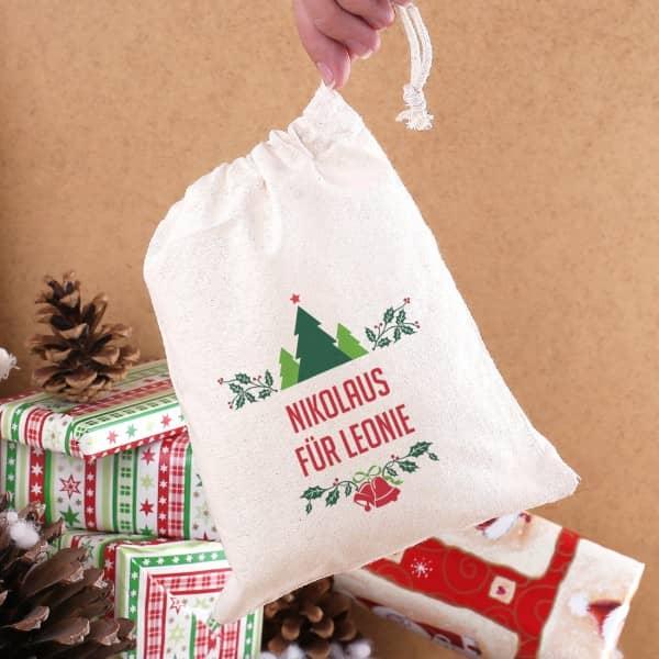 Geschenksack mit Wunschtext zu Weihnachten