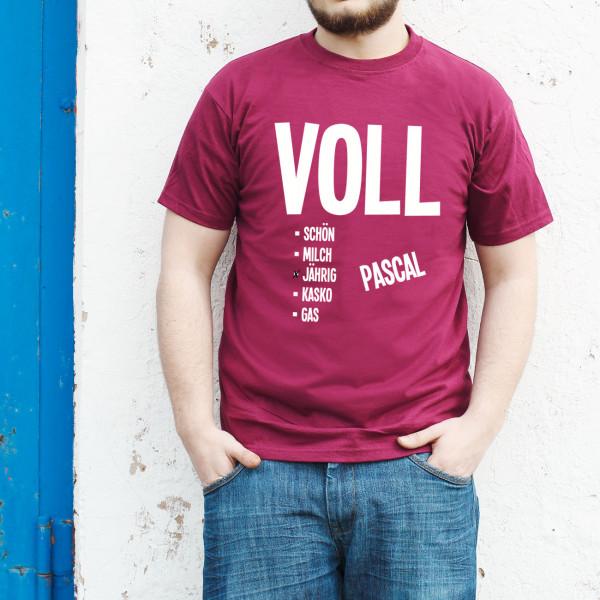 T Shirt Volljährig mit Namensaufdruck