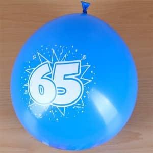 Luftballons zum 65. Geburtstag