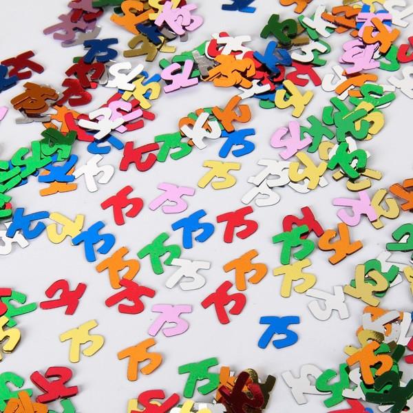 Zahlenkonfetti 75