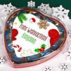 Pralinenherz - Frohe Weihnachten - mit winterlichem Motiv
