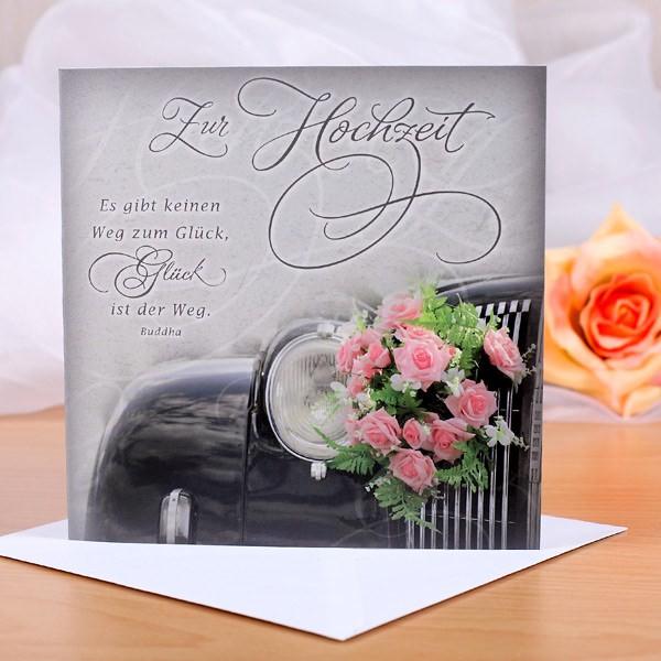 Karte zur Hochzeit - Glücklich sein