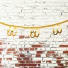 Goldene Girlande zum 60. Geburtstag