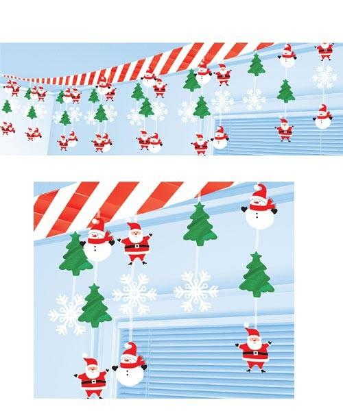 weihnachtliche Deckendekoration