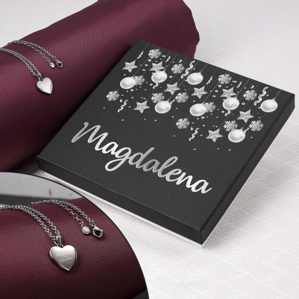 Individuellschmuck - Leonardo Herzkette mit Gravur und Geschenkverpackung zu Weihnachten - Onlineshop Geschenke online.de