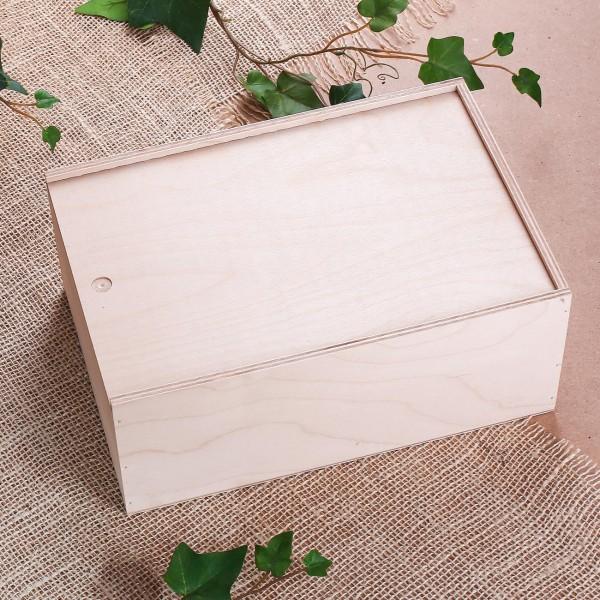 Holzverpackung für Geschenke