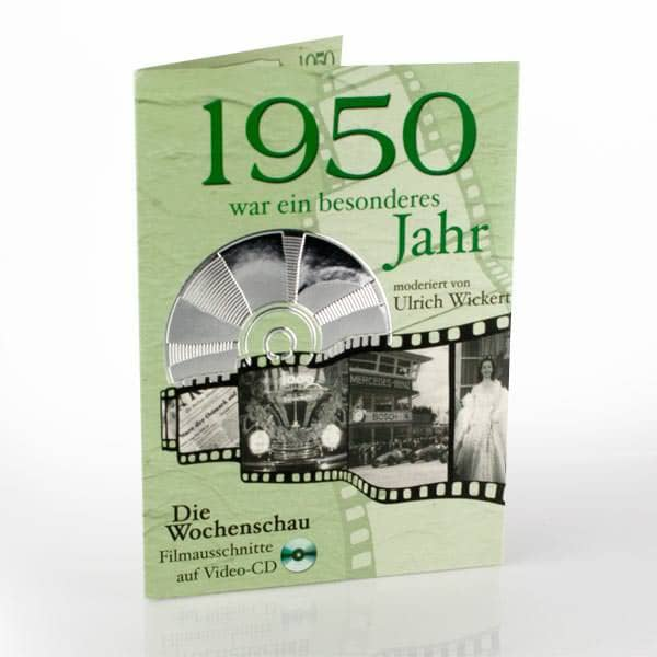 Geburtstagskarte mit Ausschnitten 1950