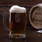 Graviertes Bierglas mit Wunschnamen und Geburtsjahr