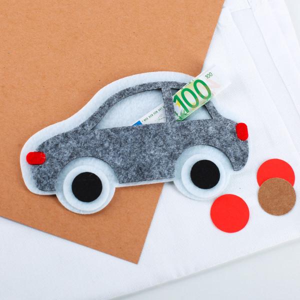 Filzauto für Geldgeschenke
