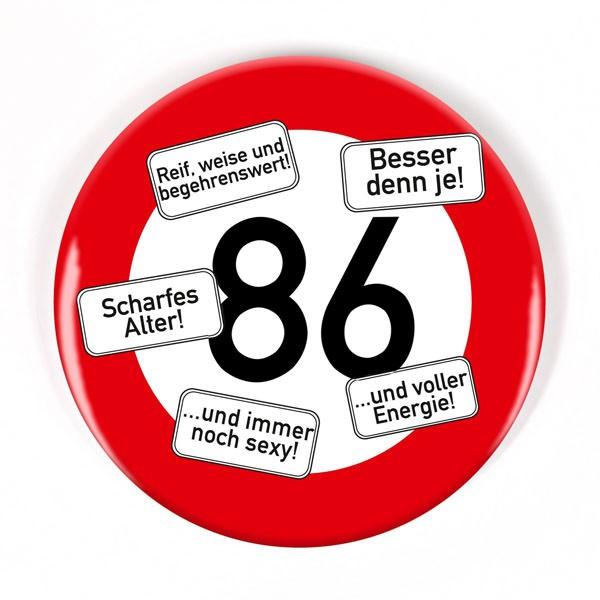 Button zum 86. Geburtstag