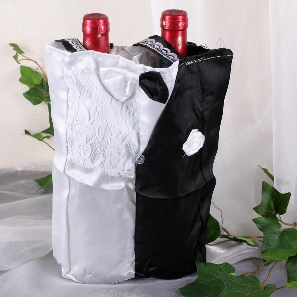 Flaschentasche zur Hochzeit im Brautpaar-Look