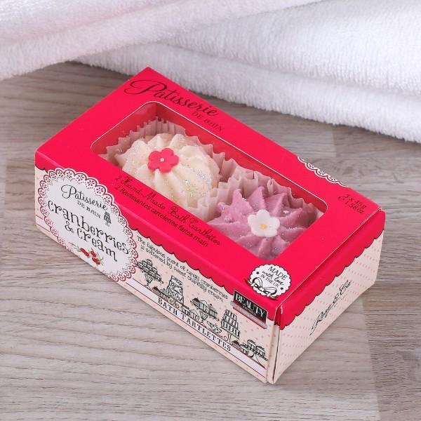 2 Badetörtchen Cranberrie & Cream