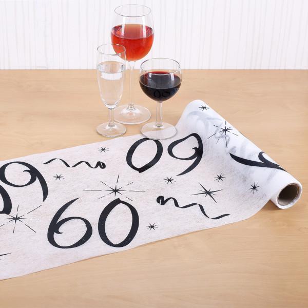 Tischläufer zum 60. Geburtstag